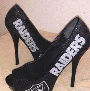 Raiders Football team high heels